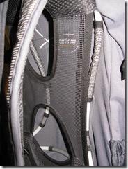 Rear airflow rucksack