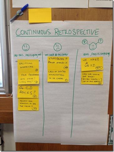 continuous retrospective